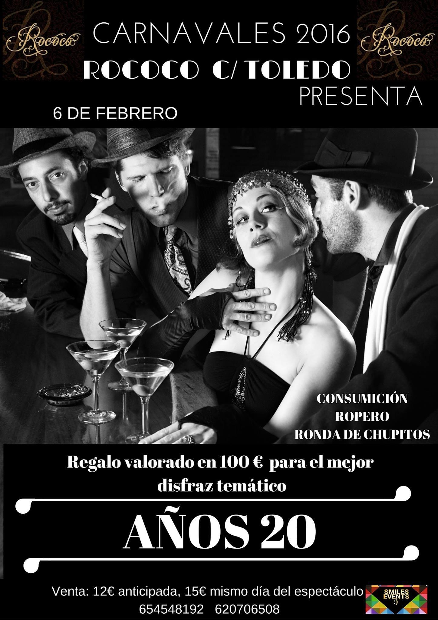 Fiesta tem tica a os 20 en rococ burgos - Fiesta anos 20 ...