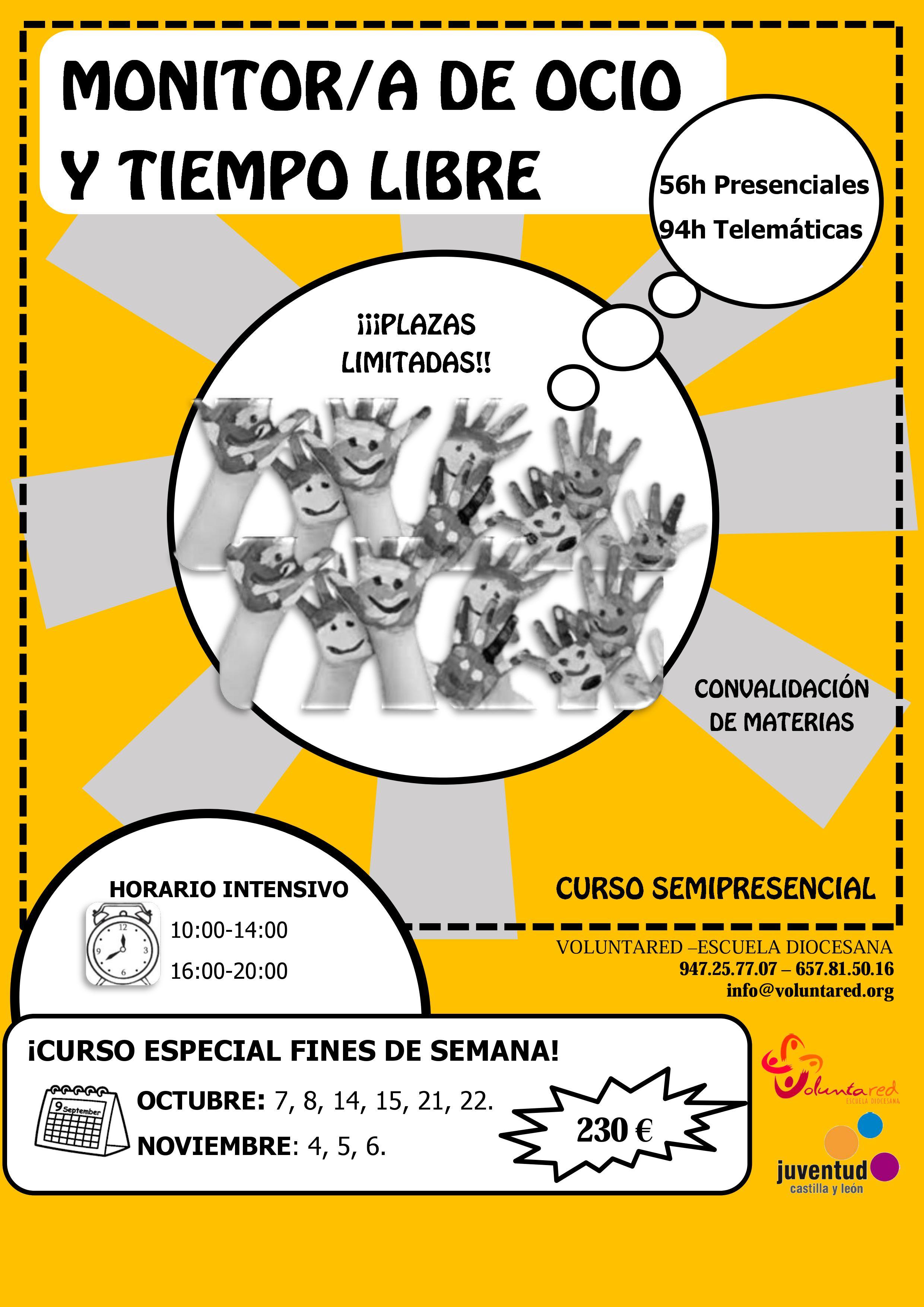 Curso de monitor de tiempo libre en Burgos
