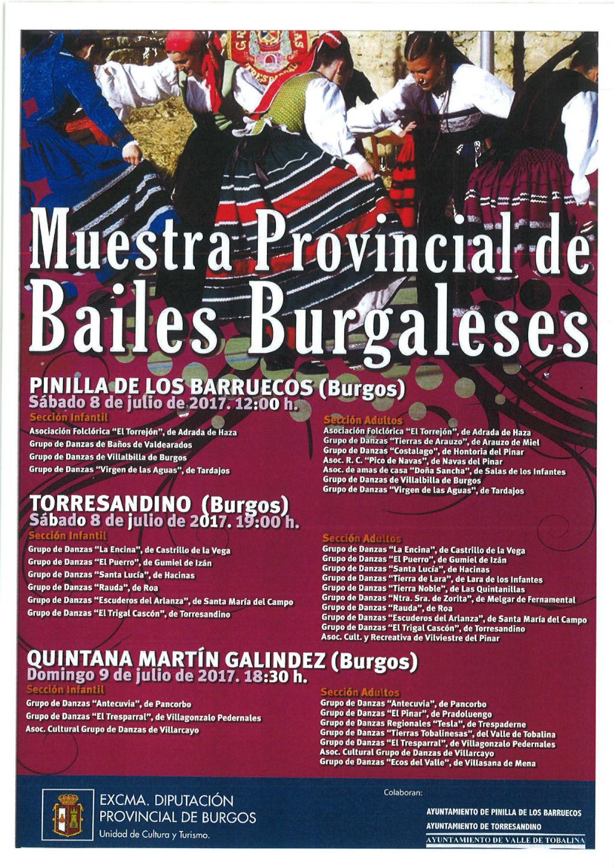 Muestra provincial de bailes burgaleses en oficina de for Oficina de turismo burgos