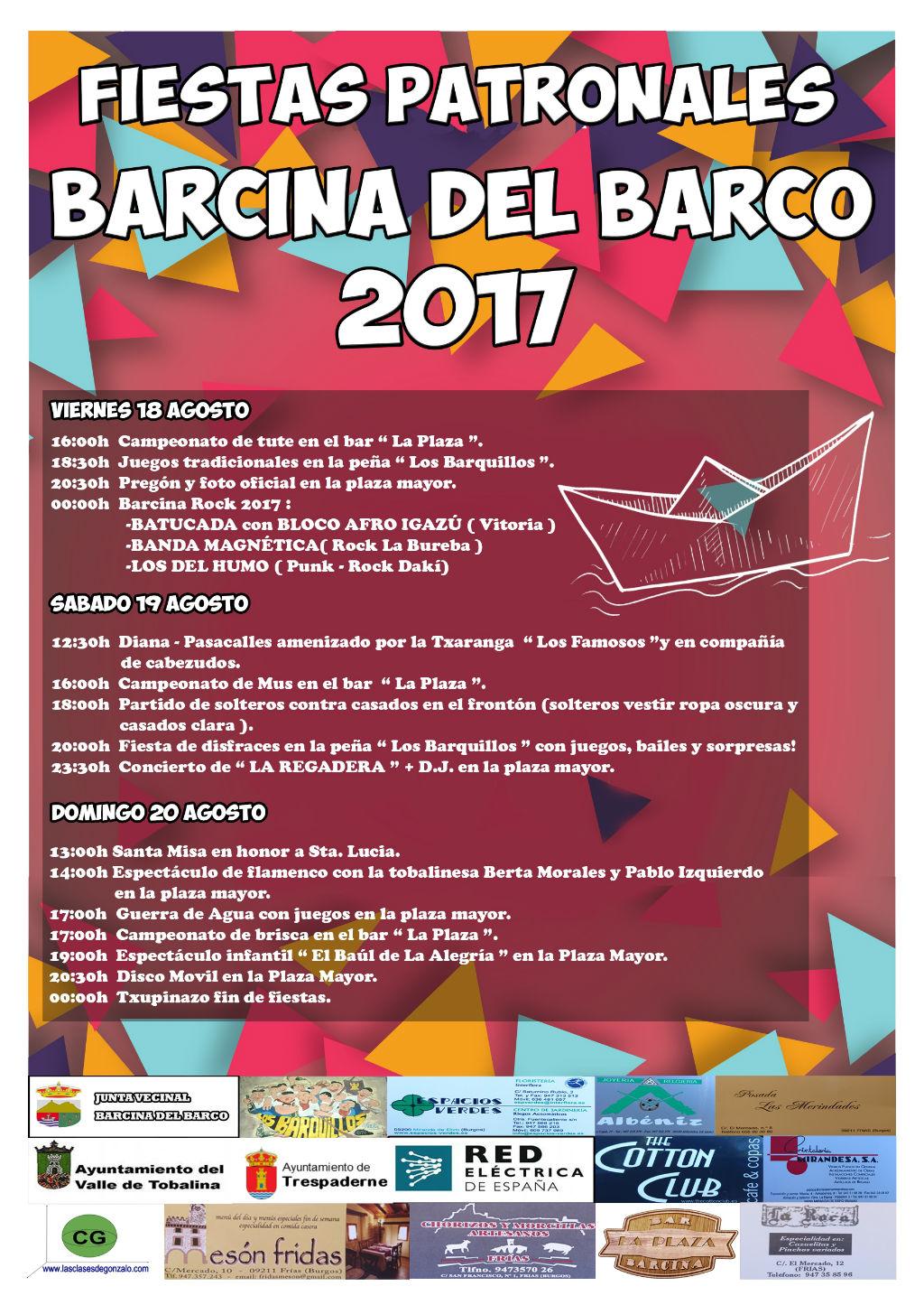 Fiestas patronales barcina del barco 2017 en oficina de for Oficina turismo burgos