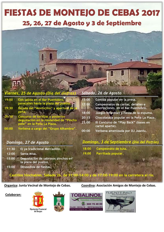 Fiestas montejo de cebas 2017 valle de tobalina en for Oficina de turismo burgos